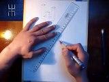 drawing 3D illusion logo AMAZIGH - IMAZIGHEN