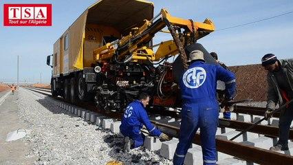 Le chantier du TGV en Algérie
