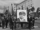 Obsèques de Marc Lanvin, militant communiste assassiné à Achicourt le 29 juin 1968
