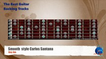 Smooth style Carlos Santana Guitar Backing Track with scale map