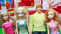 PRANK MAKEOVER Barbie TATTOO Frozen Parody Elsa, Princess Anna & Barbie Kristoff Toy Funny