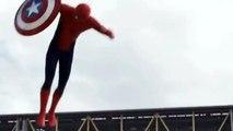 De nouvelles images sur l'apparition de Spiderman dans Captain America : Civil War