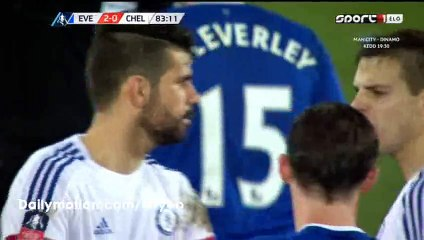 Diego Costa Red Card HD - Everton 2-0 Chelsea - 12-03-2016 FA Cup