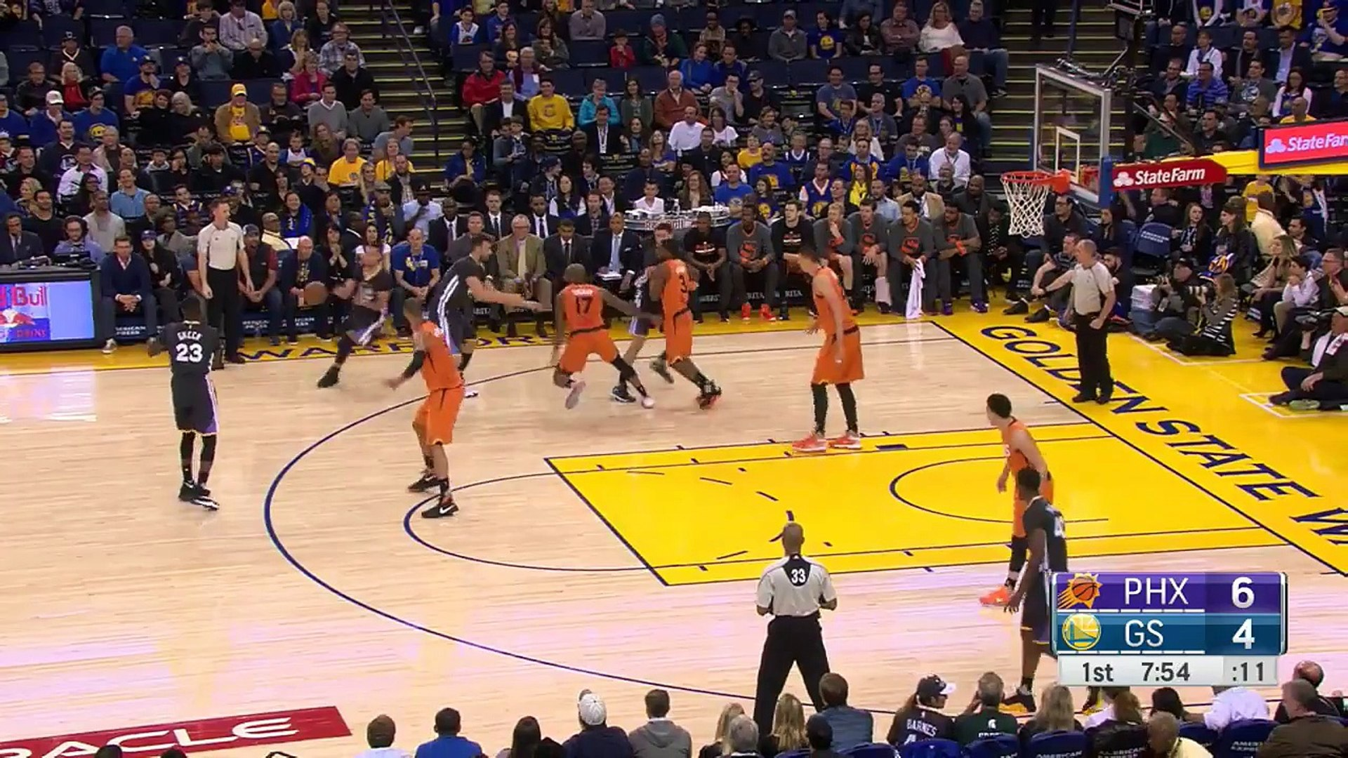 Stephen Curry s Insane 3-Pointers   Suns vs Warriors   March 12, 2016   NBA 2015-16 Season