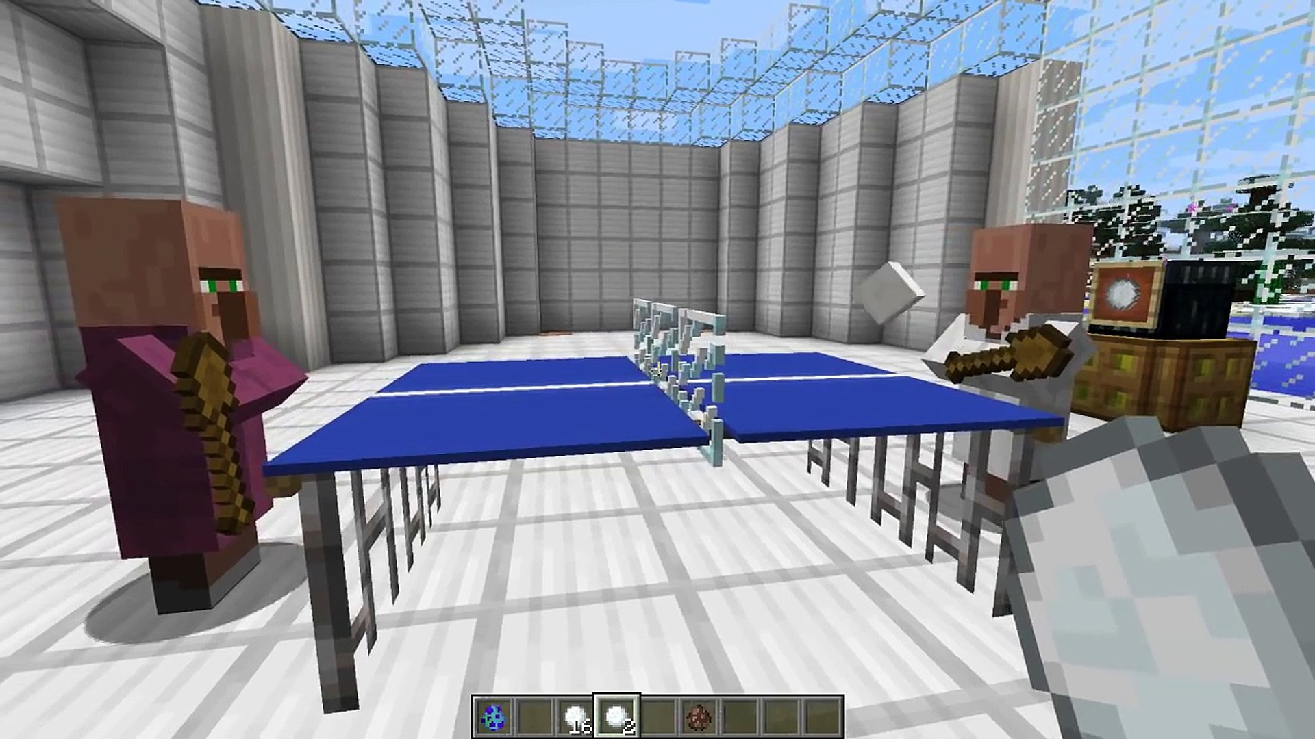 Minecraft - Table Tennis (A.K.A. Ping Pong) in one command