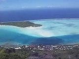 Maupiti desde las alturas. Polinesia Francesa