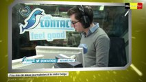Fou rire de deux journalistes à la radio belge