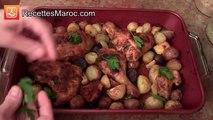 Poulet Rôti aux Herbes & Patates - Roasted Chicken & Potatoes - دجاج محمر بالبطاطس