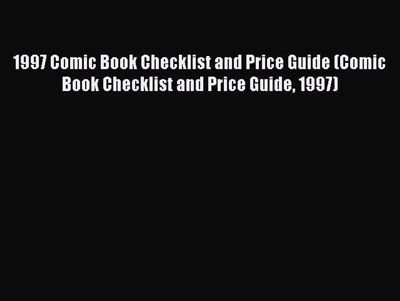 Read 1997 Comic Book Checklist and Price Guide (Comic Book Checklist and Price Guide 1997)