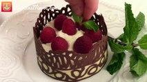 Dentelles en Chocolat & Mousse - Chocolate Lace Cup & Mousse - دانتيل الشوكولاته و موس