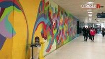 Le street art s'invite Gare du Nord