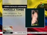 Colombia: paramilitares asesinan a líderes sociales