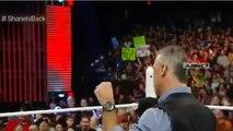 WWE RAW 3/7/16 Shane McMahon vs Vince McMahon Security