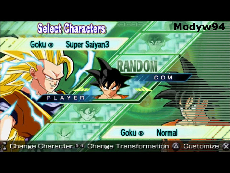 Dragon Ball Z: Shin Budokai 2 Another Road All Playable Characters