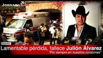 Julión Álvarez falleció esta mañana a sus 32 años en la Ciudad de México