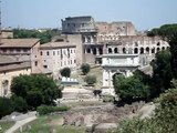 View From Above of the Roman Forum and the Coliseum - June 2009 - Rome, Italy