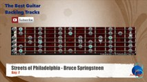 Streets Of Philadelphia - Bruce Springsteen Guitar Backing Track with scale chart