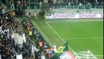 Tim Cup Juventus Milan 2 2 20/03/2012 La Juve sotto la curva!!!