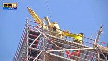 Mont-Saint-Michel: l'archange décroché avec succès pour être restauré