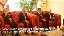 """Jean-Marc Ayrault en Côte d'Ivoire : """"Nous sommes la menace des terroristes de la même façon"""""""