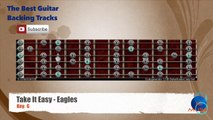 Take It Easy - Eagles Guitar Backing Track with scale chart