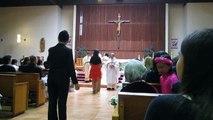 Communion during a wedding at St. Nicholas' Church in Laguna Woods, CA