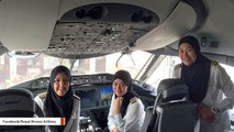 Female Flight Crew Lands Plane In Saudi Arabia Where Women Can't Drive