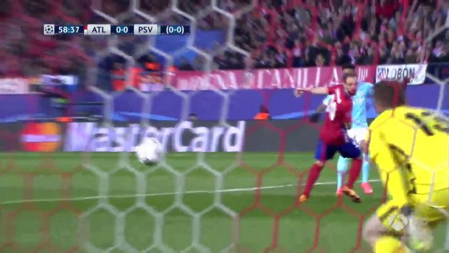 Jürgen Locadia Amazing Chance, Jan Oblak Fantastic Save - Atletico Madrid 0 - 0 PSV Eindhoven Champions League