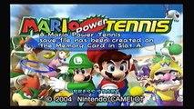 Lets Play Mario Power Tennis - Episode 1 - Talkin Tennis