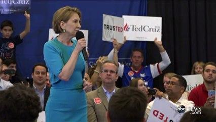 Carly Fiorina Endorses Ted Cruz for President