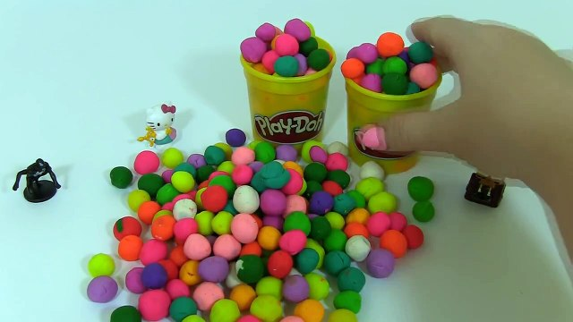 Many Play Doh Surprise Balls Disney Princess Hello Kitty Peppa Pig Masha i Medved