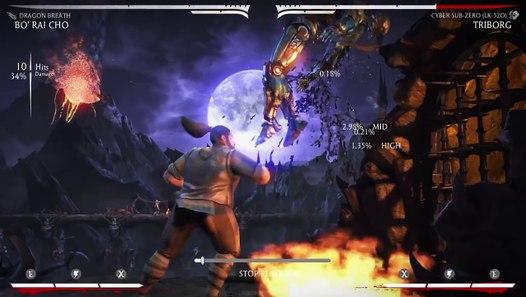MKX: Bo Rai Cho (Dragon Breath) Corner Combos/Setups | 42 52%