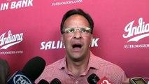 Tom Crean addresses media at Lucas Oil Stadium