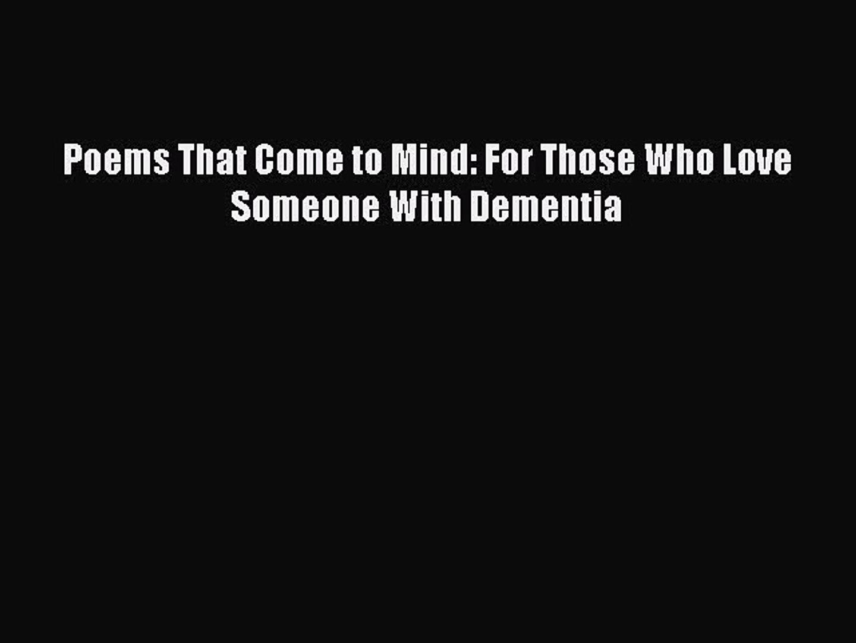 Dementia Poems 7