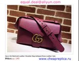 Gucci GG Marmont Leather Shoulder Bag Antiqued Rose Leather  Replica