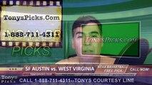 College Basketball Free Pick West Virginia Mountaineers vs. Stephen F Austin Lumberjacks Prediction Odds Preview 3-18-20