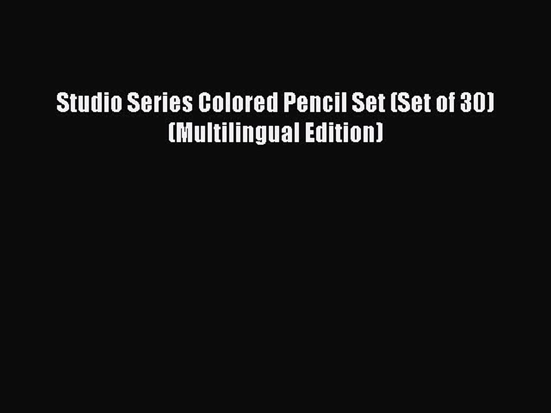 Set of 30 Multilingual Edition Studio Series Colored Pencil Set