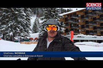 Skier avec un masque connecté