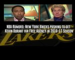 ESPN First Take 3/04/16 New York Knicks working on Kevin Durant in 2016 17 NBA Season