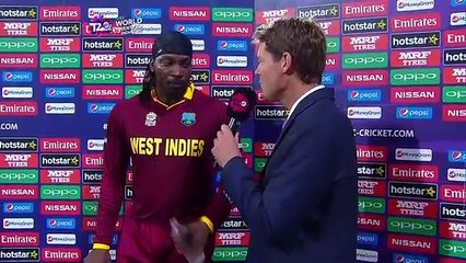 watch Chris Gayle Exclusive Interview After Scoring 1st 100 - What Ben Said to Him Before the Match?