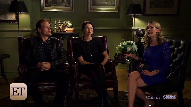 EXCLUSIVE: Outlander Stars Sam Heughen and Caitriona Balfe Play Two Truths and a Lie