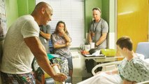 The Rock Visits Children's Hospital, Showers Kids in Bear Hugs