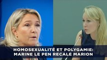 Homosexualité et polygamie: Marine Le Pen renvoie Marion Maréchal-Le Pen dans ses cordes