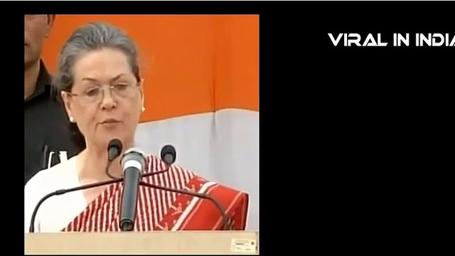 Slip of Tongue Of Sonia Gandhi Truth Comes out !!