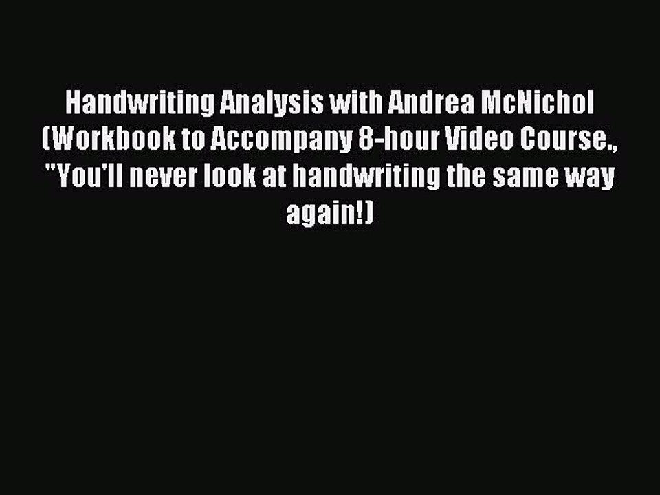 handwriting analysis andrea mcnichol