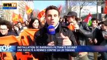 Loi Travail: à Rennes, la manifestation prend encore plus d'ampleur