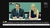 VIDÉO - Quand les propos de Marion Maréchal-Le Pen gênent Marine Le Pen