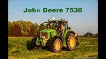 John Deere 7530 met Vicon - Gras maaien 2014