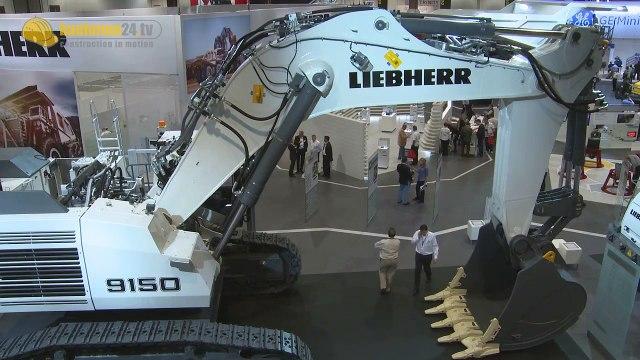 Liebherr R 9150 Mining Excavator Walkaround, Facts & Details Bauforum24 MINExpo Report