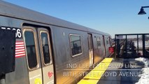 MTA New York City Subway Lefferts Boulevard Bound R46 (A) Train @ 88th Street-Boyd Avenue